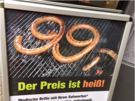 99-shaped Wurst